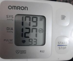 قياس مرتفع لضغط الدم